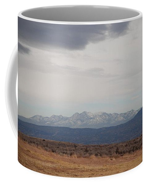 Mountains Coffee Mug featuring the photograph Overcast On The Sandias by Rob Hans