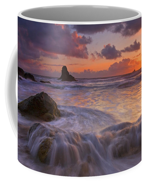 Sunset Coffee Mug featuring the photograph Overcome by Mike Dawson