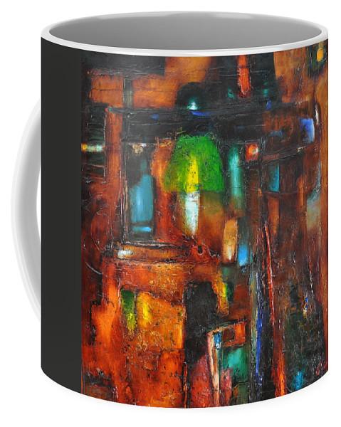 Ignatenko Coffee Mug featuring the painting Overlighting by Sergey Ignatenko