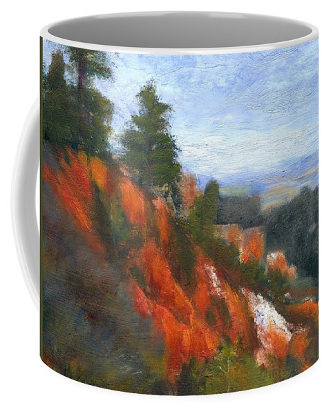 Southwest Coffee Mug featuring the painting Overlook by Gail Kirtz