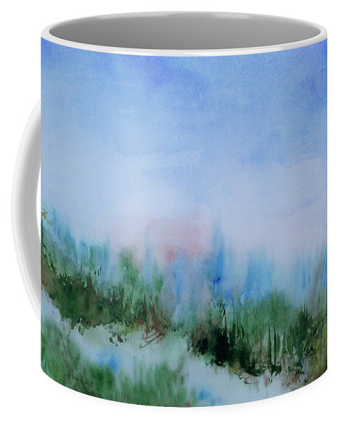Landscape Coffee Mug featuring the painting Overlook by Suzanne Udell Levinger