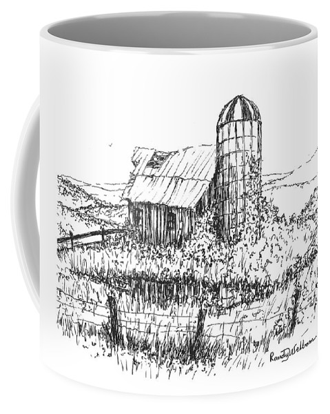 Overgrown Coffee Mug featuring the drawing Overtaken by Randy Welborn