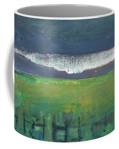 Sunset Coffee Mug featuring the painting Owl-light by Vesna Antic