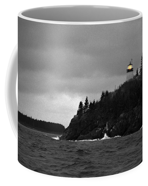 Owl's Head Coffee Mug featuring the photograph Owl's Head In Winter by John Meader
