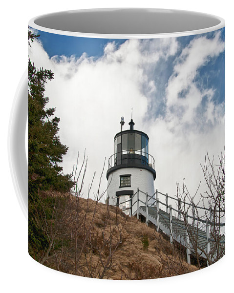 Buildings Coffee Mug featuring the photograph Owl's Head Lighthouse 4761 by Guy Whiteley