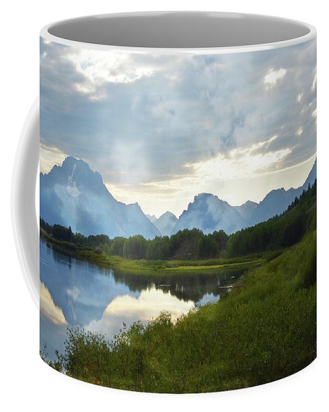 Grand Teton Coffee Mug featuring the photograph Oxbow Bend 13d by Marty Koch