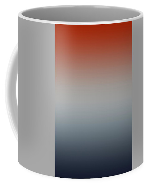 Oxford Crimson - Abstract Coffee Mug featuring the digital art Oxford Crimson - R Blended by Custom Home Fashions