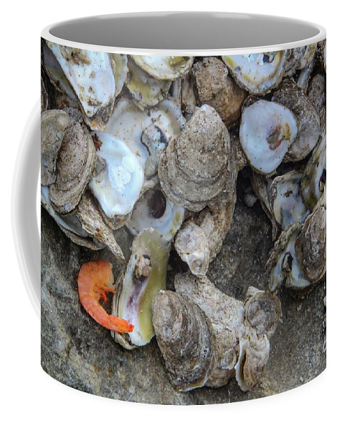 Seafood Coffee Mug featuring the photograph Oysters One by Steven Munger