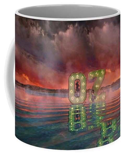 Render Coffee Mug featuring the digital art OZ by Betsy Knapp