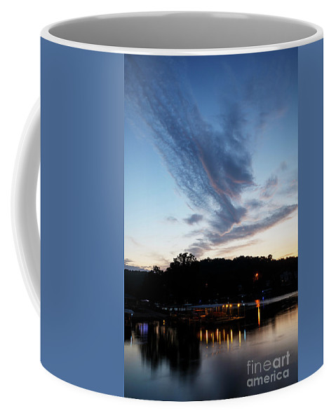 Lake Coffee Mug featuring the photograph Ozark Sunrise 6 by Dennis Hedberg
