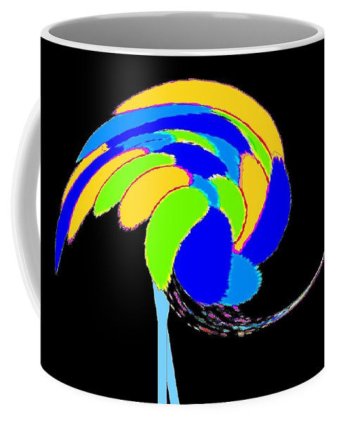 Abstract Coffee Mug featuring the digital art Ozzie The Ostrich by Will Borden