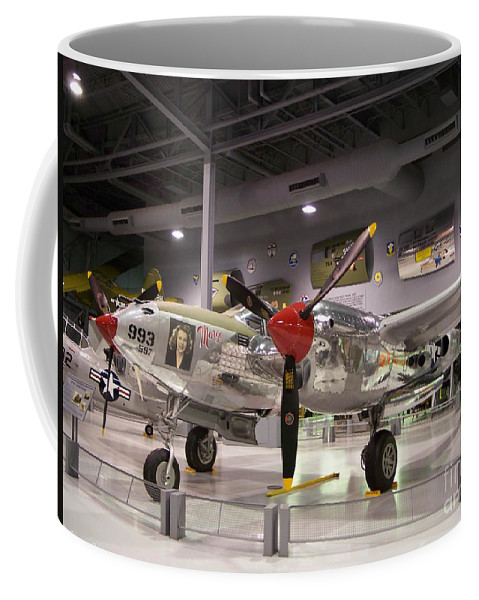 P-38 Coffee Mug featuring the photograph P-38 Lighting Marge by Tommy Anderson