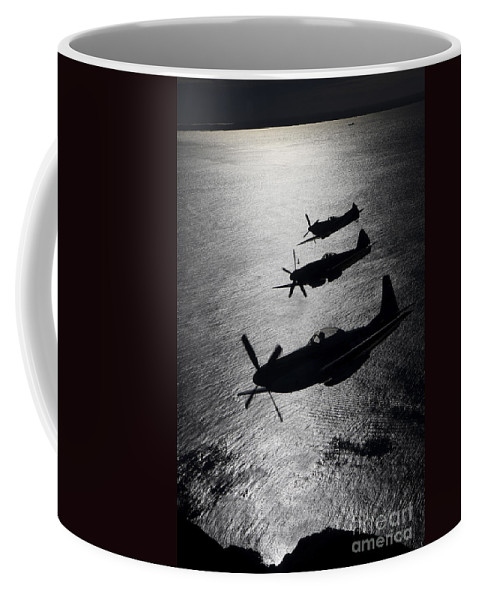 Transportation Coffee Mug featuring the photograph P-51 Cavalier Mustang With Supermarine by Daniel Karlsson