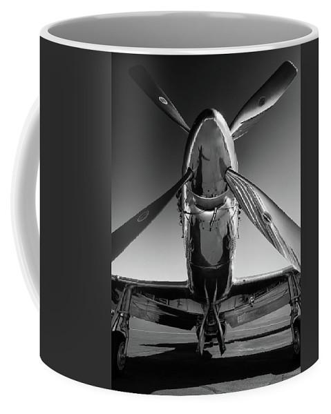 P51 Coffee Mug featuring the photograph P-51 Mustang by John Hamlon