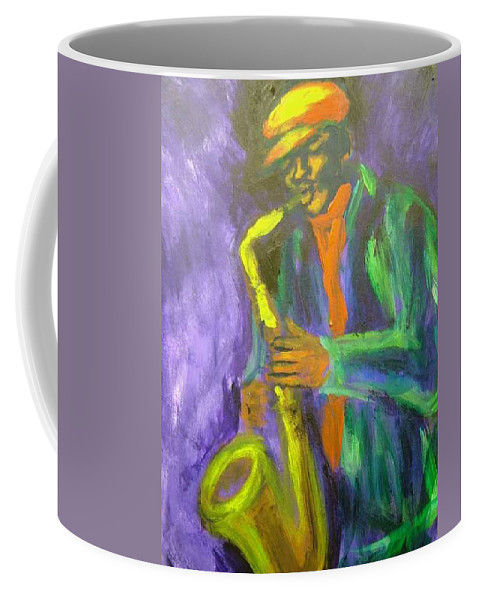 Painting Coffee Mug featuring the painting The M by Jan Gilmore