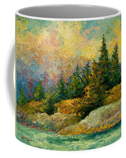 Alaska Coffee Mug featuring the painting Pacific Island by Marion Rose