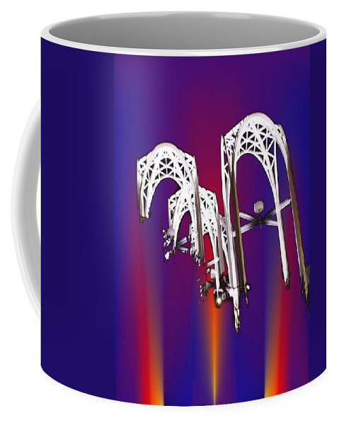 Seattle Coffee Mug featuring the photograph Pacific Science Center Arches 2 by Tim Allen