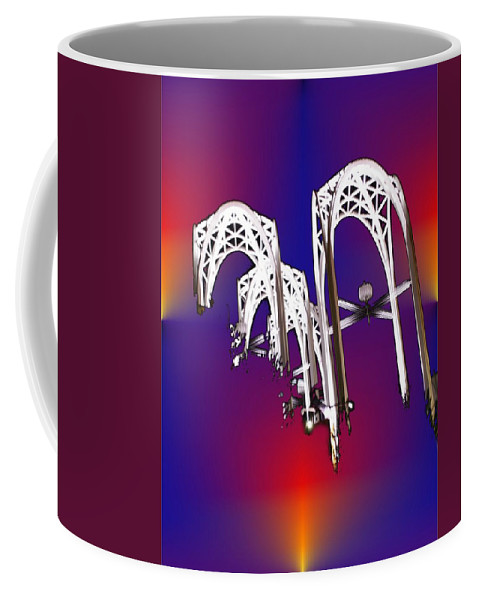 Seattle Coffee Mug featuring the photograph Pacific Science Center Arches by Tim Allen