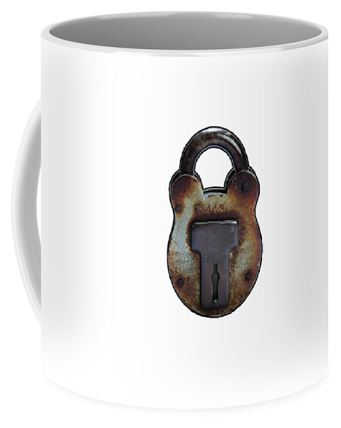 Lock Coffee Mug featuring the photograph Padlock by Tom Conway