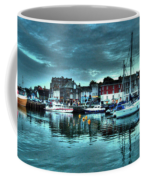 Padstow Coffee Mug featuring the photograph Padstow Harbour At Dusk by Rob Hawkins