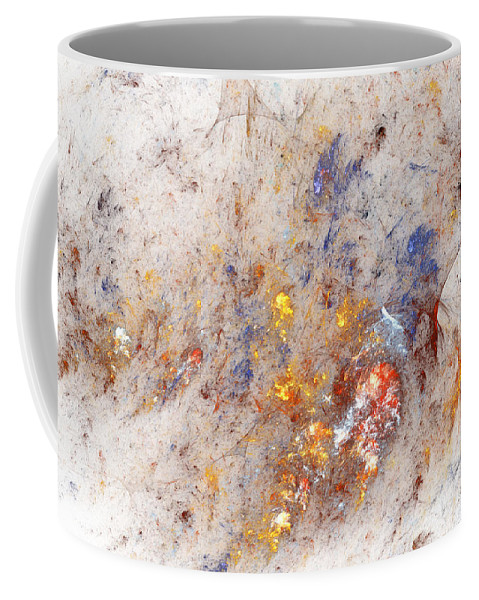 Abstract Coffee Mug featuring the digital art Paean To Pollack by Casey Kotas