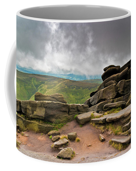 Landscape Coffee Mug featuring the photograph Pagoda #1, Kinder Scout, Peak District, North West England by Anthony Lawlor