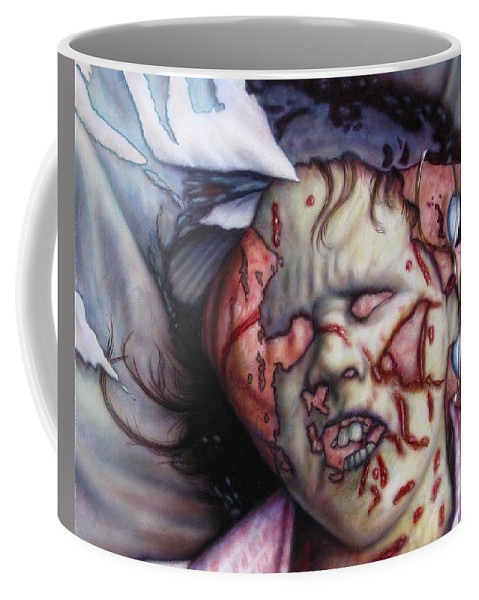Pain Coffee Mug featuring the painting Pain by James W Johnson