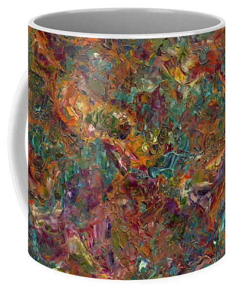 Abstract Coffee Mug featuring the painting Paint Number 16 by James W Johnson