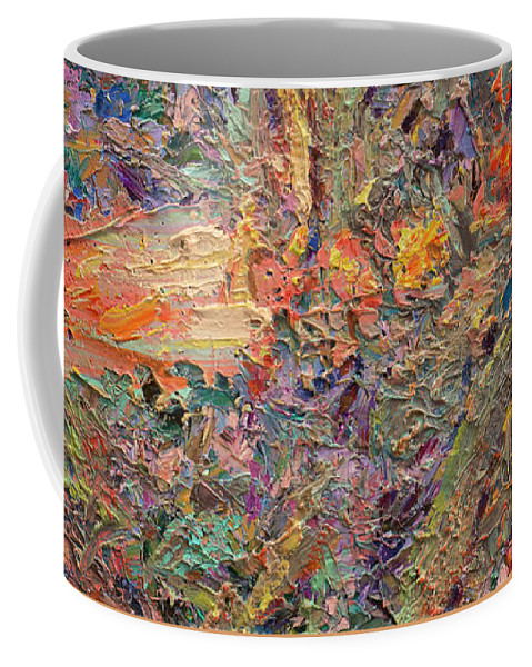 Abstract Coffee Mug featuring the painting Paint Number 34 by James W Johnson