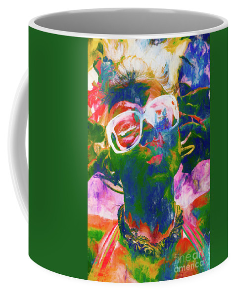 Drawing Coffee Mug featuring the painting Paint splash pinup art by Jorgo Photography - Wall Art Gallery