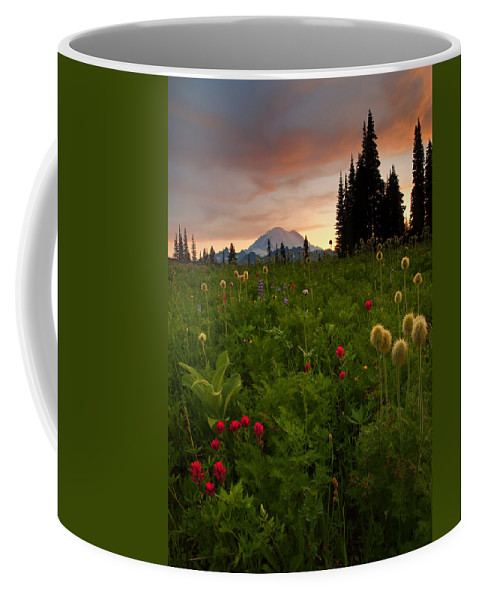 Sunset Coffee Mug featuring the photograph Paintbrush Sunset by Mike Dawson