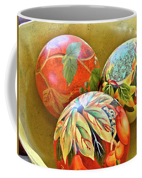 Painted Coffee Mug featuring the photograph Painted Balls by Charles Muhle