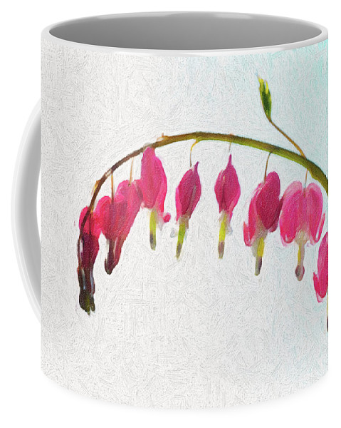 Flowers Coffee Mug featuring the photograph Painted Bleeding Heart by Sue Collura