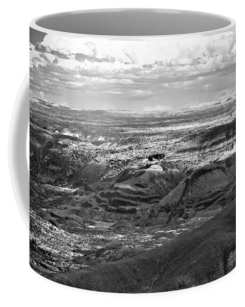 Painted Coffee Mug featuring the photograph Painted Desert #2 by Robert J Caputo