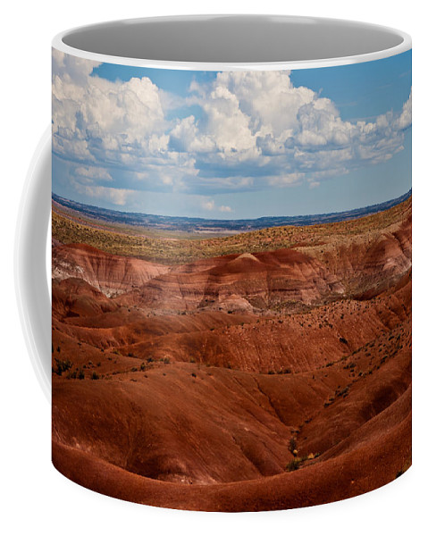 Painted Coffee Mug featuring the photograph Painted Desert #4 by Robert J Caputo