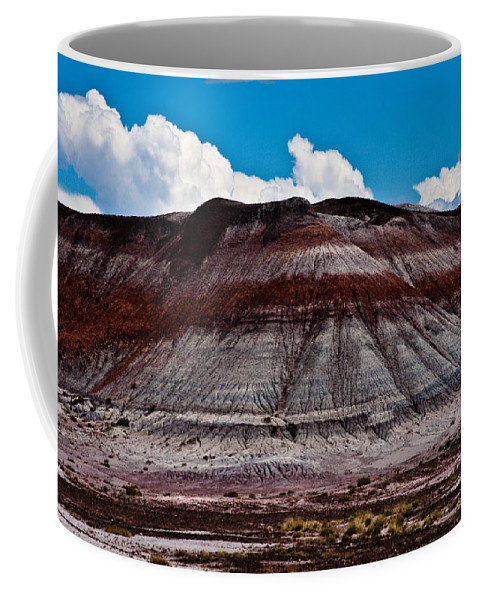 Painted Coffee Mug featuring the photograph Painted Desert #5 by Robert J Caputo