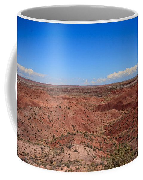 Painted Coffee Mug featuring the photograph Painted Desert #6 by Robert J Caputo