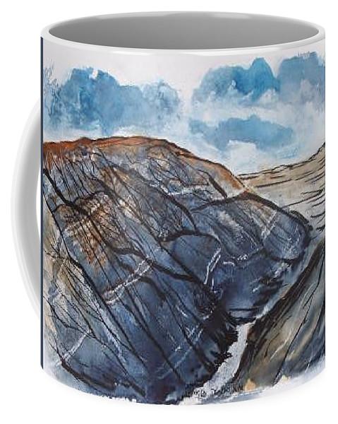 Plein Air Coffee Mug featuring the painting Painted Desert landscape mountain desert fine art by Derek Mccrea