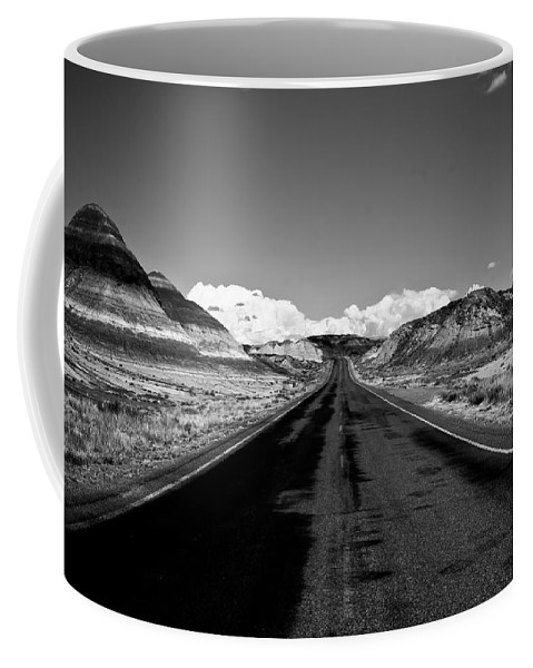 Painted Coffee Mug featuring the photograph Painted Desert Road #2 by Robert J Caputo