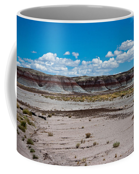 Painted Coffee Mug featuring the photograph Painted Desert by Robert J Caputo