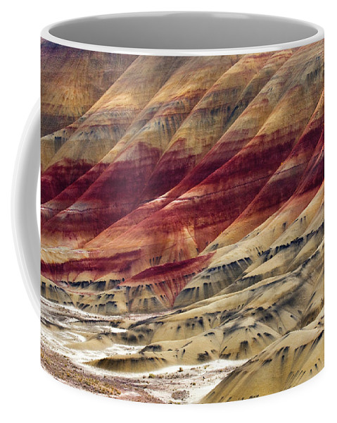 Painted Hills Coffee Mug featuring the photograph Painted Hills Contour by Mike Dawson