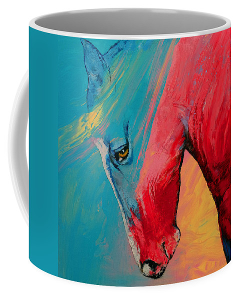 Painted Horse Coffee Mug For Sale By Michael Creese