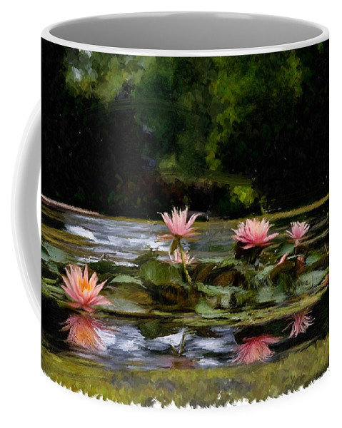 Paint Coffee Mug featuring the digital art Painted Lily by Ches Black
