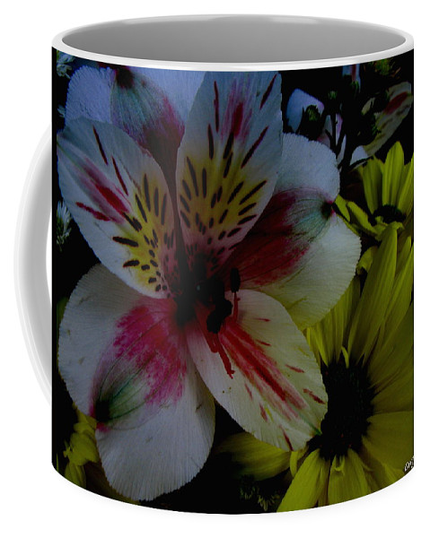 Art For The Wall...patzer Photography Coffee Mug featuring the photograph Painted Lily by Greg Patzer