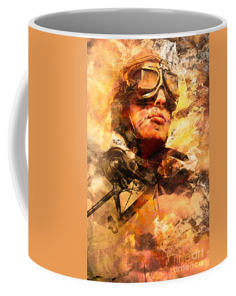 Pilot Coffee Mug featuring the photograph Painted Pilots At War by Jorgo Photography - Wall Art Gallery