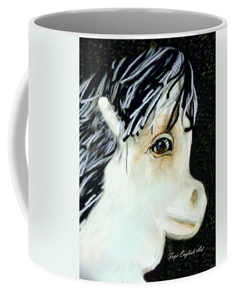 Pony Coffee Mug featuring the digital art Painted Pony by Faye English