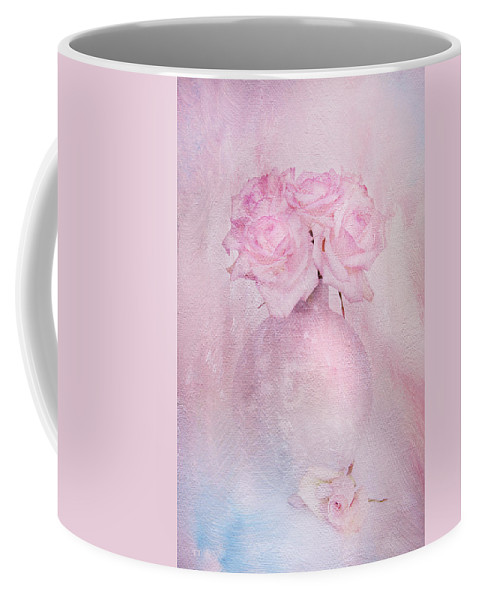 Contemporary Still Life Coffee Mug featuring the photograph Painted Roses by Theresa Tahara