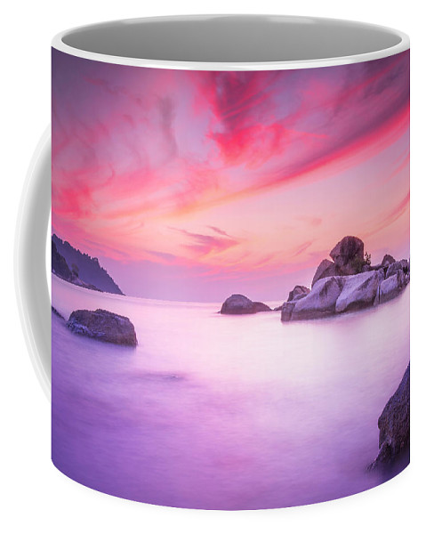 Evening Sunset Coffee Mug featuring the photograph Painted Sky by Paul Chong