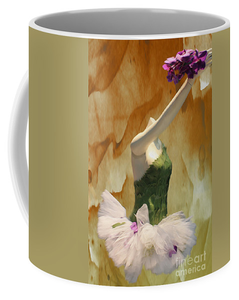 Flowers Coffee Mug featuring the photograph Painting A Ballet Dream by Nina Silver