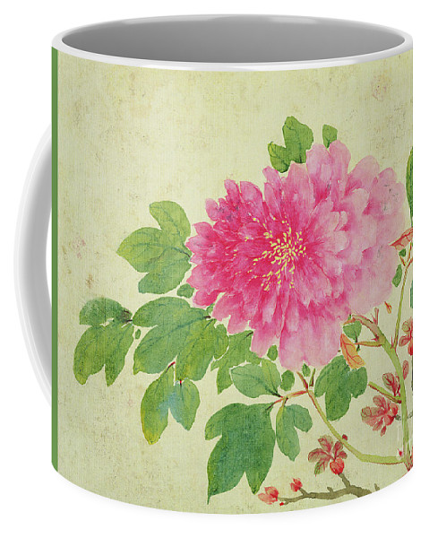 Peonies Coffee Mug featuring the painting Painting Of Peonies by Jiang Yu